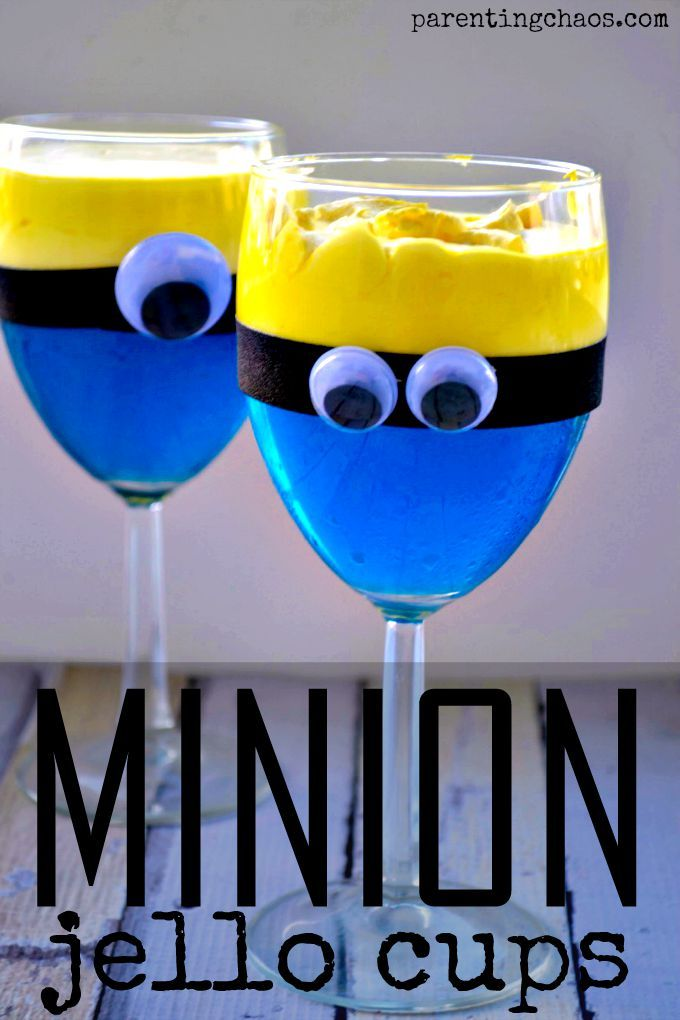 Minion Jello Cups: A mischievously delicious treat that the Minion lover in your life will adore!