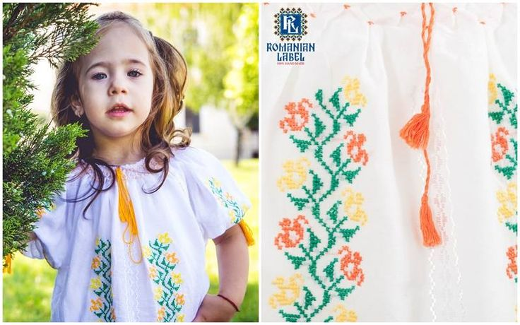 Lovely traditional romanian blouse for kids<3 #romanianlabel #traditionalblouse #romanianblouse