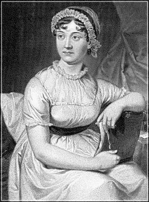 Jane Austen. English novelist of romantic fiction.