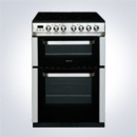 Servis DC60SS Double oven, 4 hob electric cooker in stainless steel