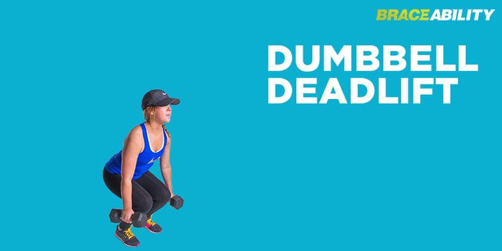 Dumbbell deadlift exercise for chondromalacia in patella