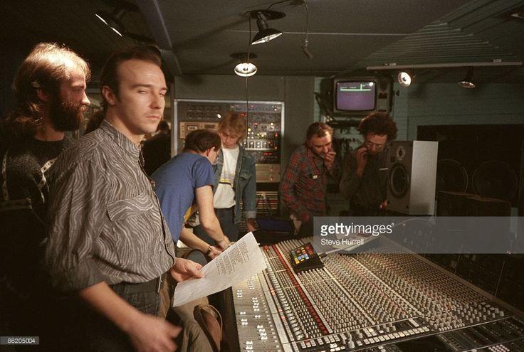 STUDIOS Photo of Midge URE and BAND AID, Midge Ure in the control room