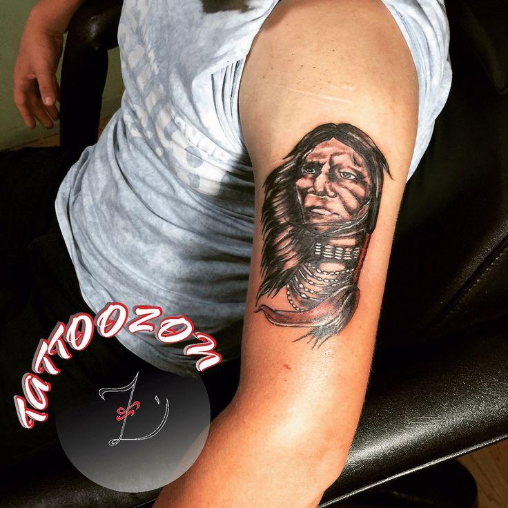 tattoozon - trabzon dövme  - omuz kol amerikan yerli kızılderili çeroki dövmesi - shoulder arm american native indian cherokee tattoo