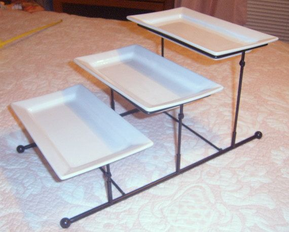 tiered serving stand   Serving Tray,Dessert tray, Tiered Serving Tray,Multi-level Serving ...