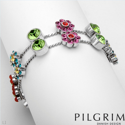 PILGRIM SKANDERBORG, DENMARK Dazzling Brand New Bracelet With Genuine Crystals Well Made in Silver Base metal. Total item weight 28.8g - Certificate Available.