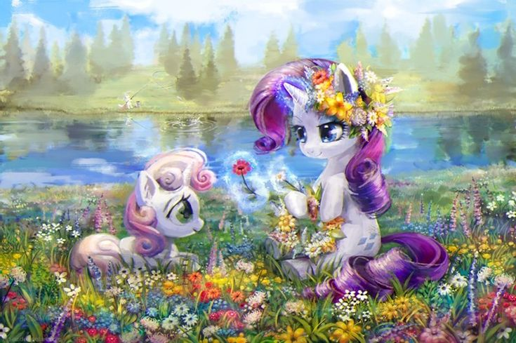 Sweetie bell and Rarity