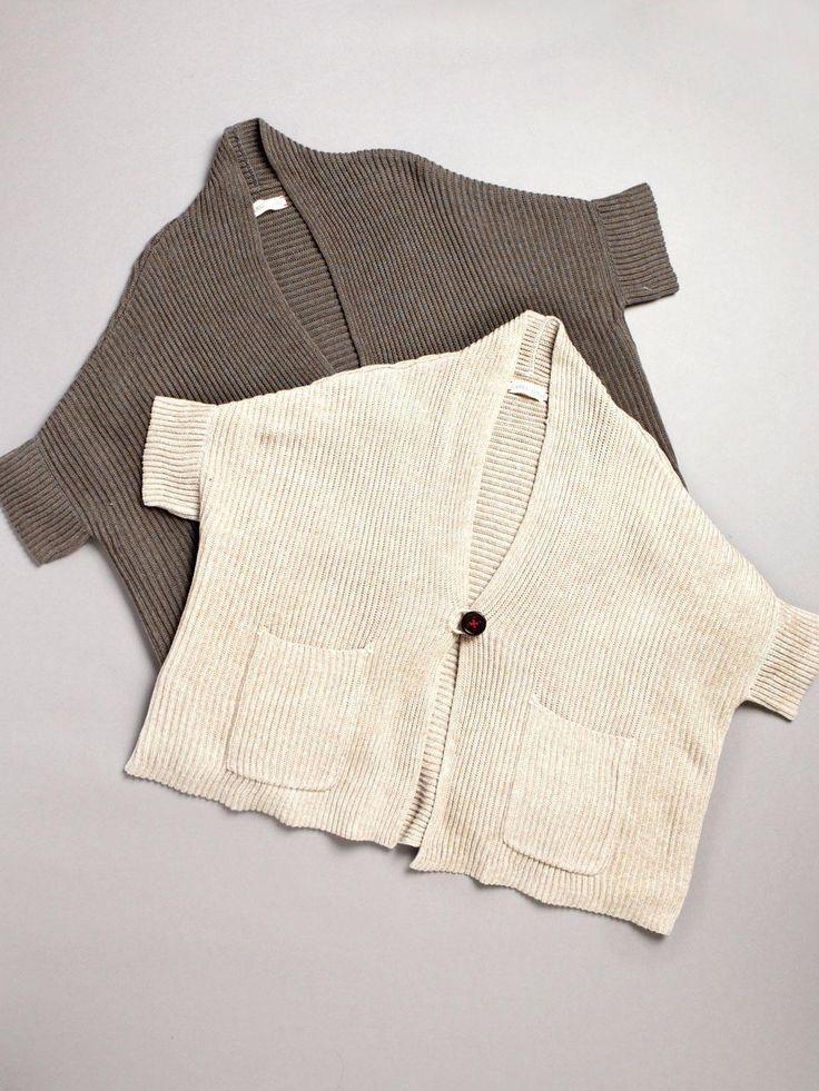 boxy knit cardigan