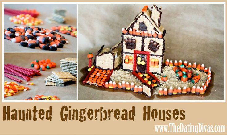 great idea for a party - haunted gingerbread houses