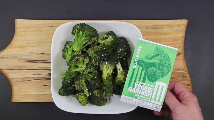 METROPOLITAN CHEF PRESENTS ROASTED BROCCOLI WITH OUR SEA SALT AND VEGGIE...