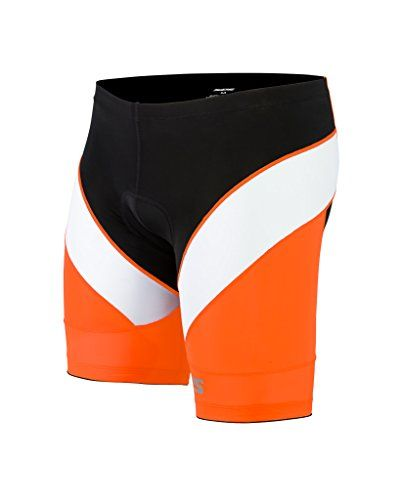 Triathlon SLS3 Men`s FX Tri Shorts 1 Pocket - swim-bike-run with comfort - Orange M