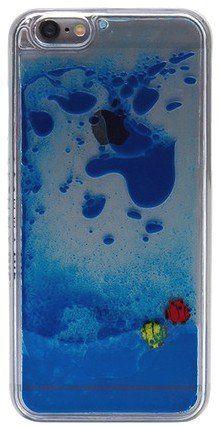 SKINNYDIP ( スキニーディップ ) ロンドン の 流れてトキメク お魚さん iphone6ケース IPHONE 6 BLUE FISH CASE ブルー ケース アイフォン シックス モバイル カバー apple6 iphone6 保護シート ゲット 海外 ブランド