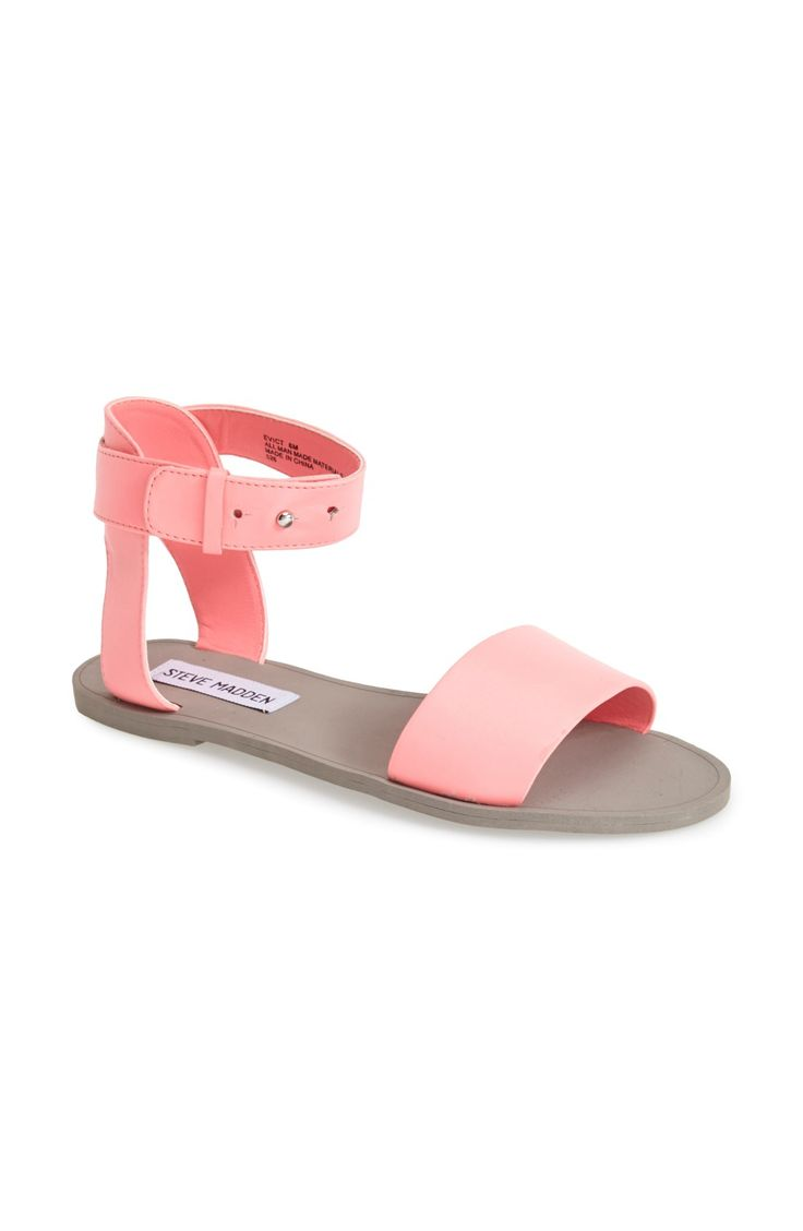 Loving these bold ankle-strap sandals.