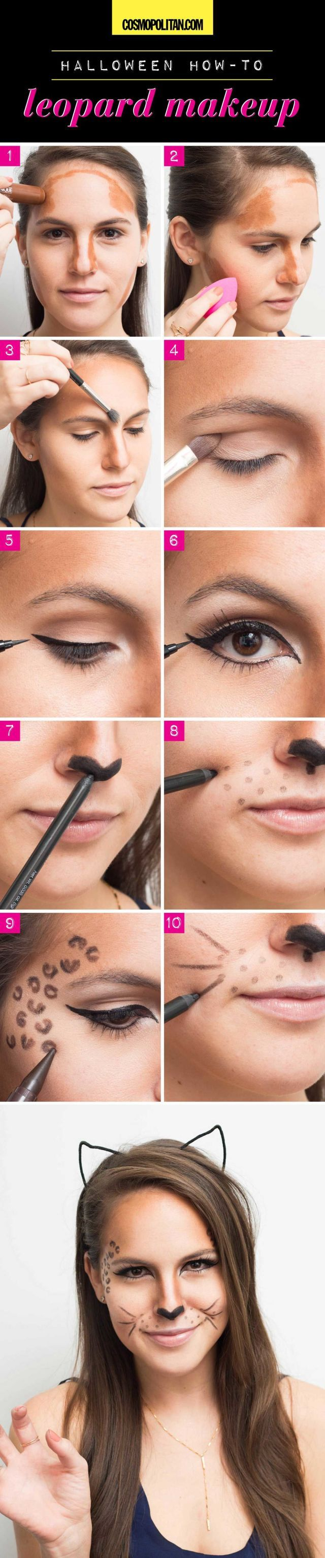 Halloween How-to: Leopard Makeup