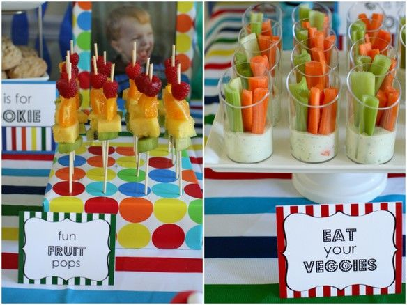 Cute ideas overall on this page, but this is genius to get kids to eat healthy at a birthday party!