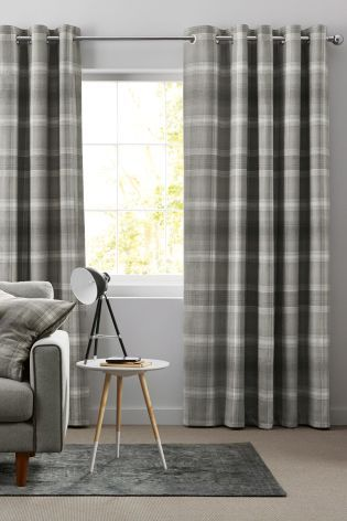 Buy Cosy Check Eyelet Curtains from the Next UK online shop