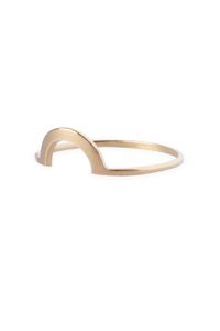 Ring 'Mount'. True to Form - 14kt solid gold collection. www.theboyscouts.nl