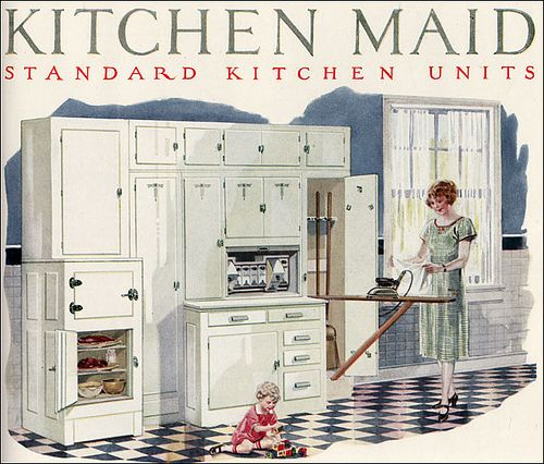 1926 Kitchen Maid Cabinetry by American Vintage Home, via Flickr - so sweet!