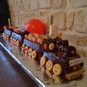 nice train cake