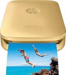 HP - Sprocket Photo Printer - Gold - Larger Front #PhotoPrinter