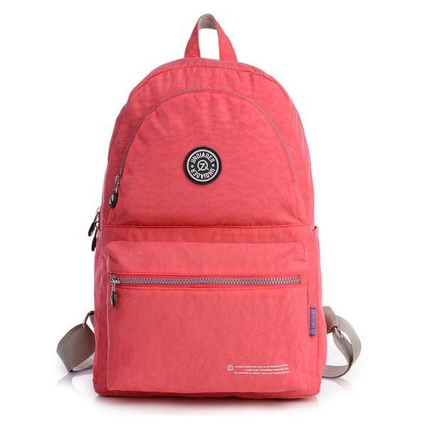 Women Men Nylon Waterproof Backpack Casual Outdoor Lightweight Students School Bags Rucksack