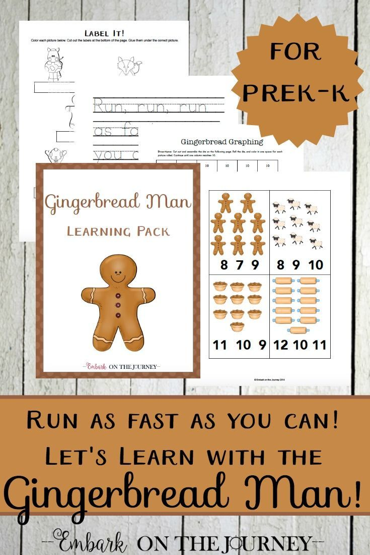 Run, run as fast as you can! Spend Christmas teaching with the Gingerbread man! Come get your fun 30-page download and discover fun hands-on activities you can do with your kids!   embarkonthejourney.com