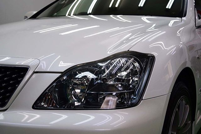 トヨタ・クラウン PCX-V110+TOPコート この度、中古でご購入され、汚れが目立つことから外装研磨  コーティングと、内装の油性...