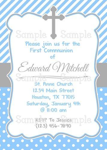 first communion invitations templates - Buscar con Google