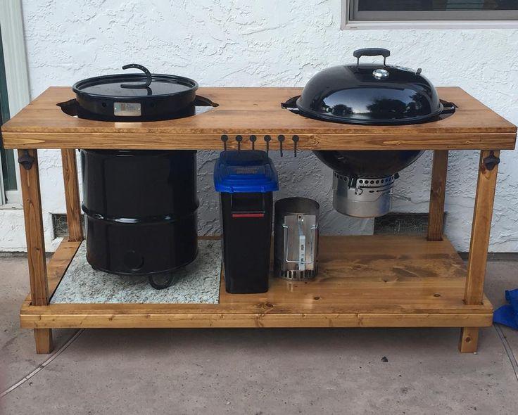 Pit barrel smoker  & weber grill