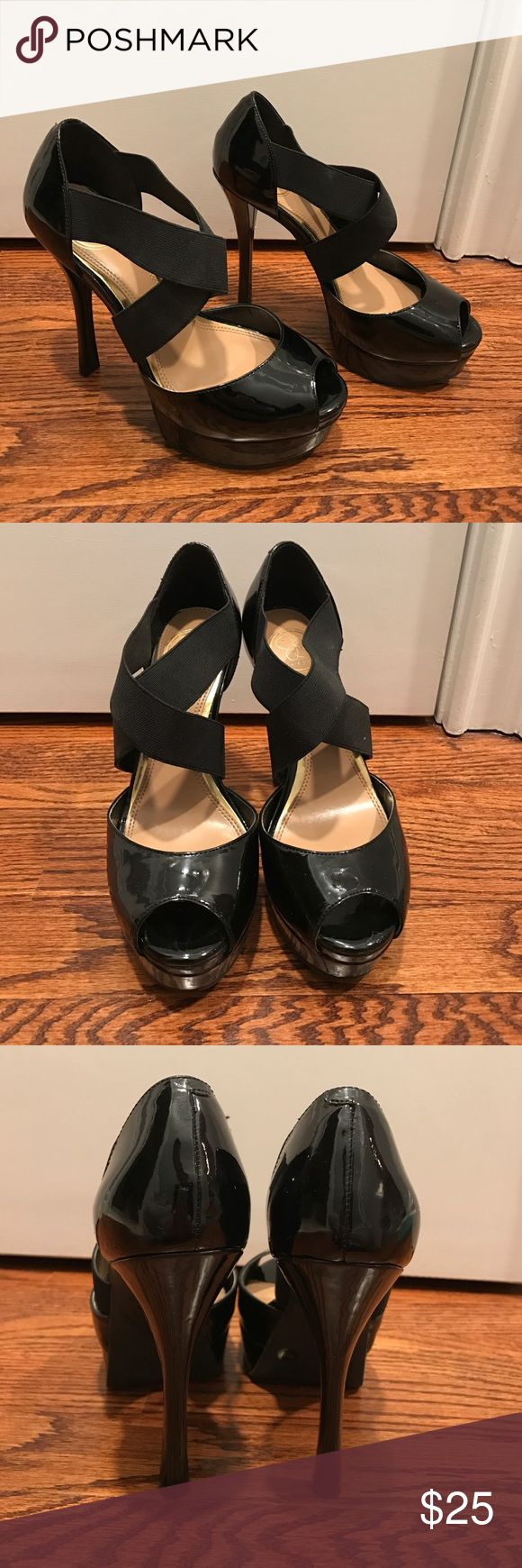 JS by Jessica black crossed shoe JS by Jessica sold at DSW. size 7 color black style rach USA women's size 7. Comes in box. Shoes Heels