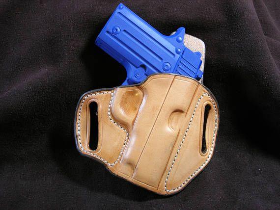 GIBSON Leather Belt Slide Pancake Holster Sig P238 Kimber