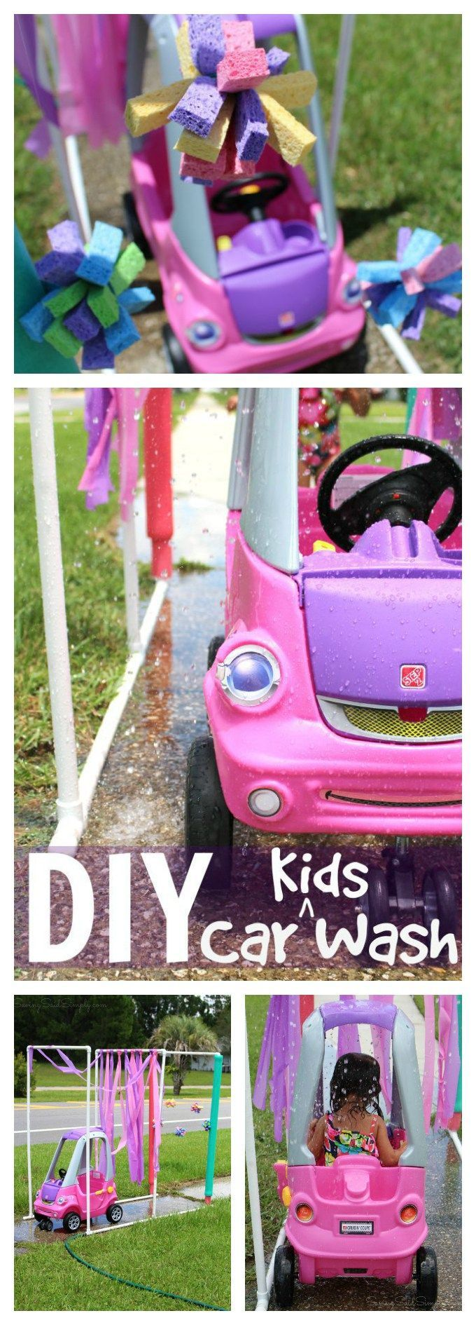 DIY Kid Car Wash, full tutorial! Perfect summer project