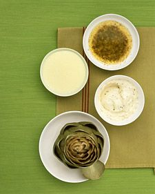3 dipping sauces for artichokes #martha