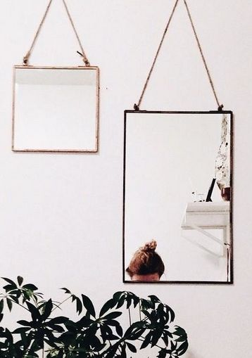 #anthroegistry hanging wall frame and mirrors image at anthropologie via http://instagram.com/p/wIbmz1qhrt/