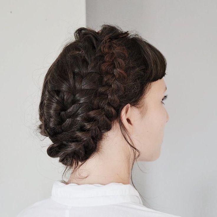 Dutch crown braid