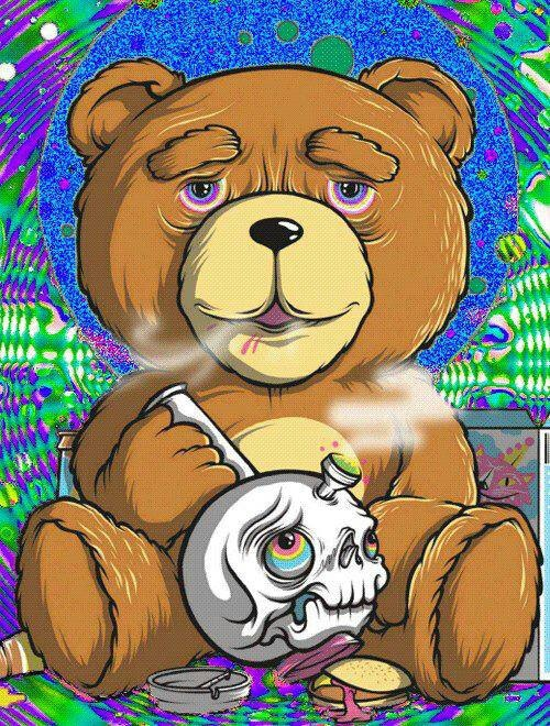 Ted smoking that skull bong..get high first !!
