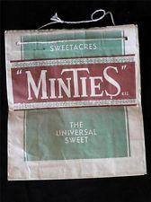 VINTAGE MINTIES ADVERTISING SHOWBAG CIRCA 1950