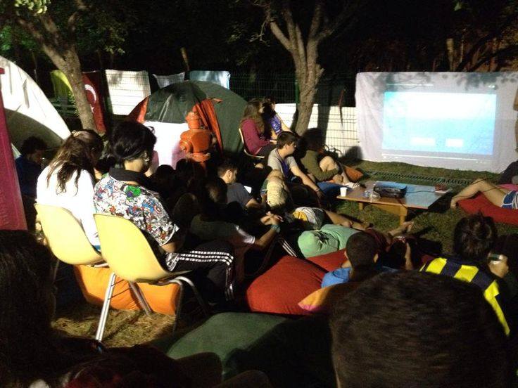 Turmepa's camp while watching at environmental presentation