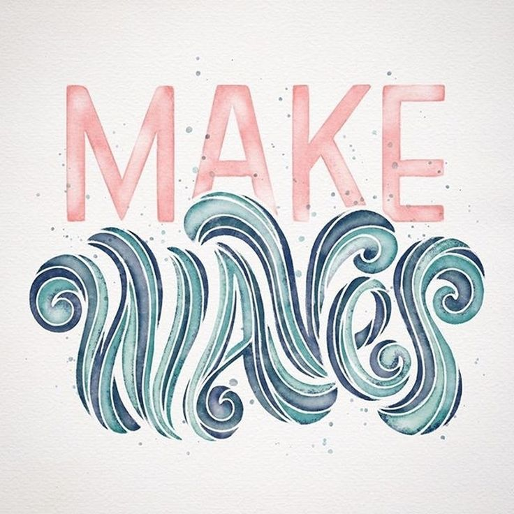 #life is a #wave - make and catch your own - by @everyday.hooray #handmadefont