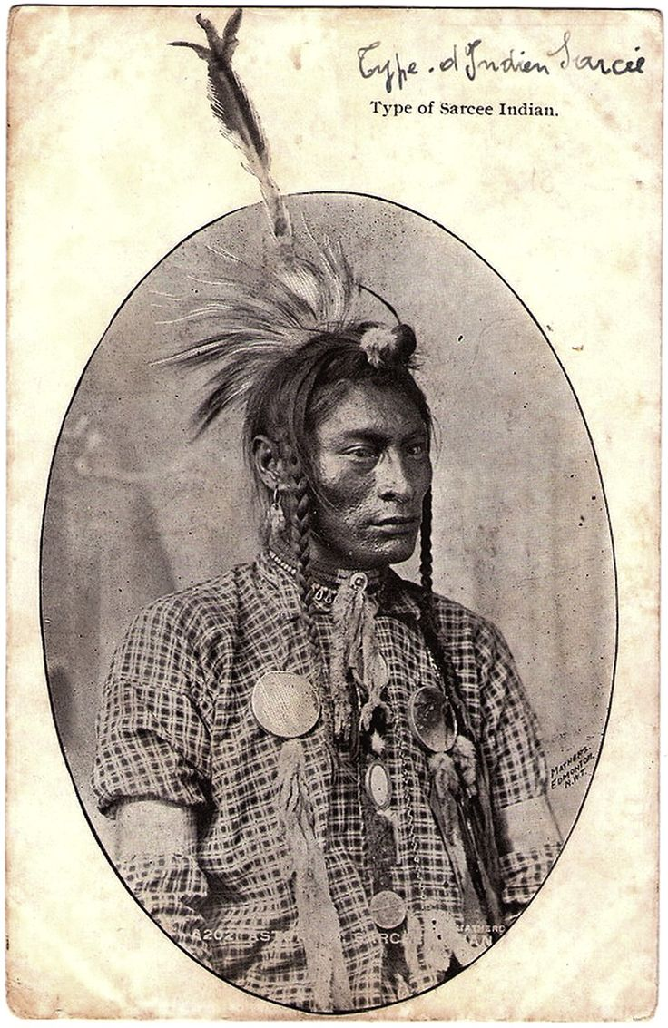 SARCEE Indian, Late 1800s Or Very Early 1900s. Photo By Mathers, Edmonton, North West Territories. Private Post Card Edited Ca.1903 - 1914.