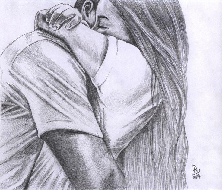 Влюбленные картинки карандаш