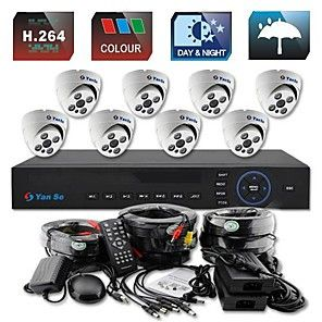 What is Included (1) 8 Channel 960H Security DVR (8) 700TVL High Resolution Bullet Camera (8) 59ft (18m) Video + Power All-in-one Cable for Security Camera (2) 12V/1500mA Power Supply for Cameras (2)