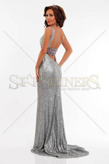 Rochie Sherri Hill 21071 Silver
