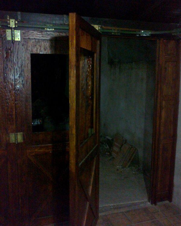 Port n de garaje en madera casero corredizo curvo - Porton de garaje ...