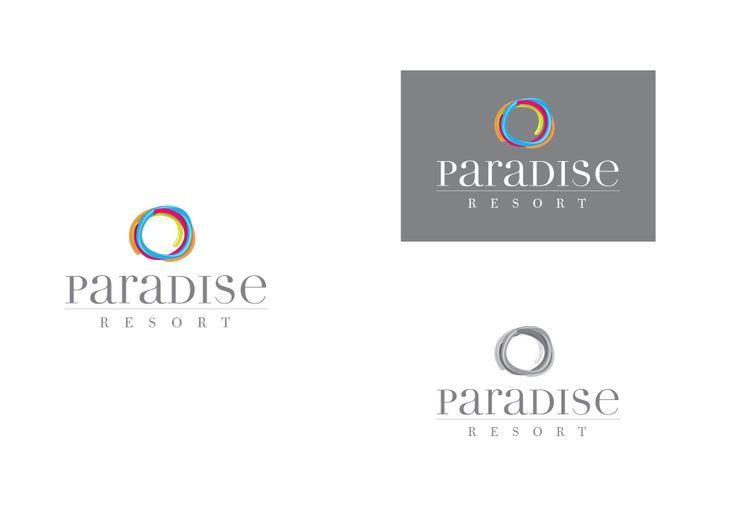 #paradise #hotel #santorini #logo