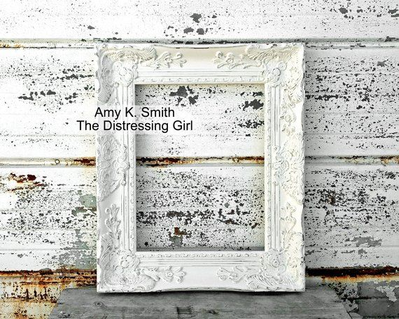 Ornate 11x14 Frame Chunky 3 Inch Thick Vintage Shabby Chic Etsy Distressed Picture Frames Princess Frame Vintage Shabby Chic