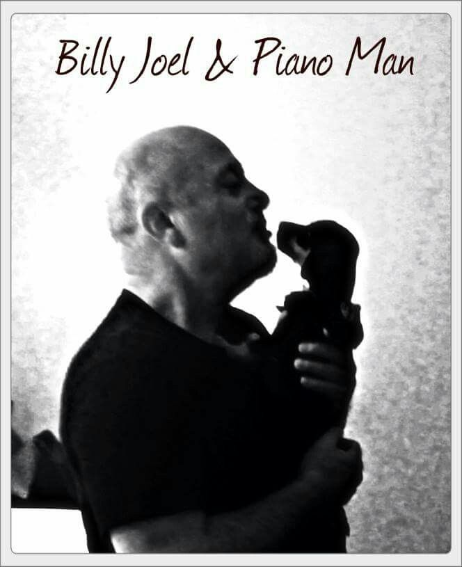 ❥ Billy Joel and his foster pup, Piano Man ~
