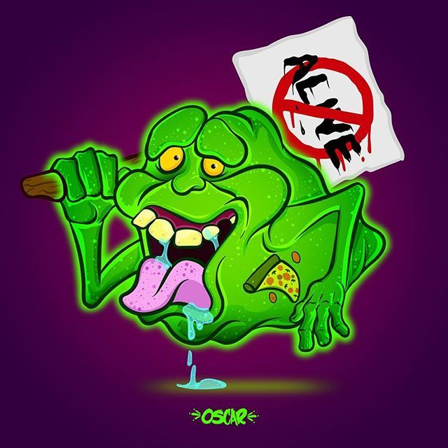 Lo único rescatable de la película jaja #pegajoso #slimer #cazafantasmas #ghostbusters #illustration #vector #illustrationdigital #drawing #ilustración #vectorilustracion  #80s #loscazafantasmas #alive #cartoon #characterdesing