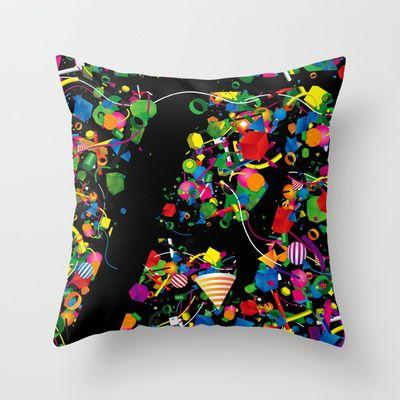 Hidden F Throw Pillow by Defeat Studio - $20.00