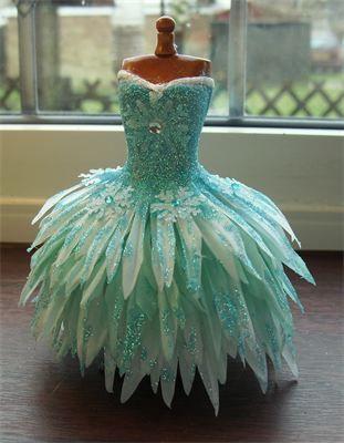 : 1/12th scale petal dress.