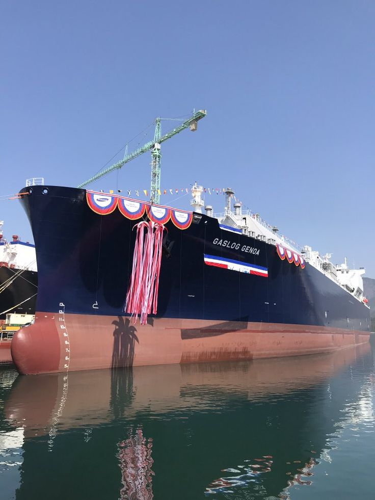 """On March 27th, we celebrated the naming ceremony of our newest LNG Carrier """"GasLog Genoa"""" at Samsung Heavy Industries, S.Korea. A 174,000 cbm LNG vessel which was delivered to her owners on March 29th. Congratulations  to all the team involved for this successful delivery!pic.twitter.com/bujhGMaY7C"""